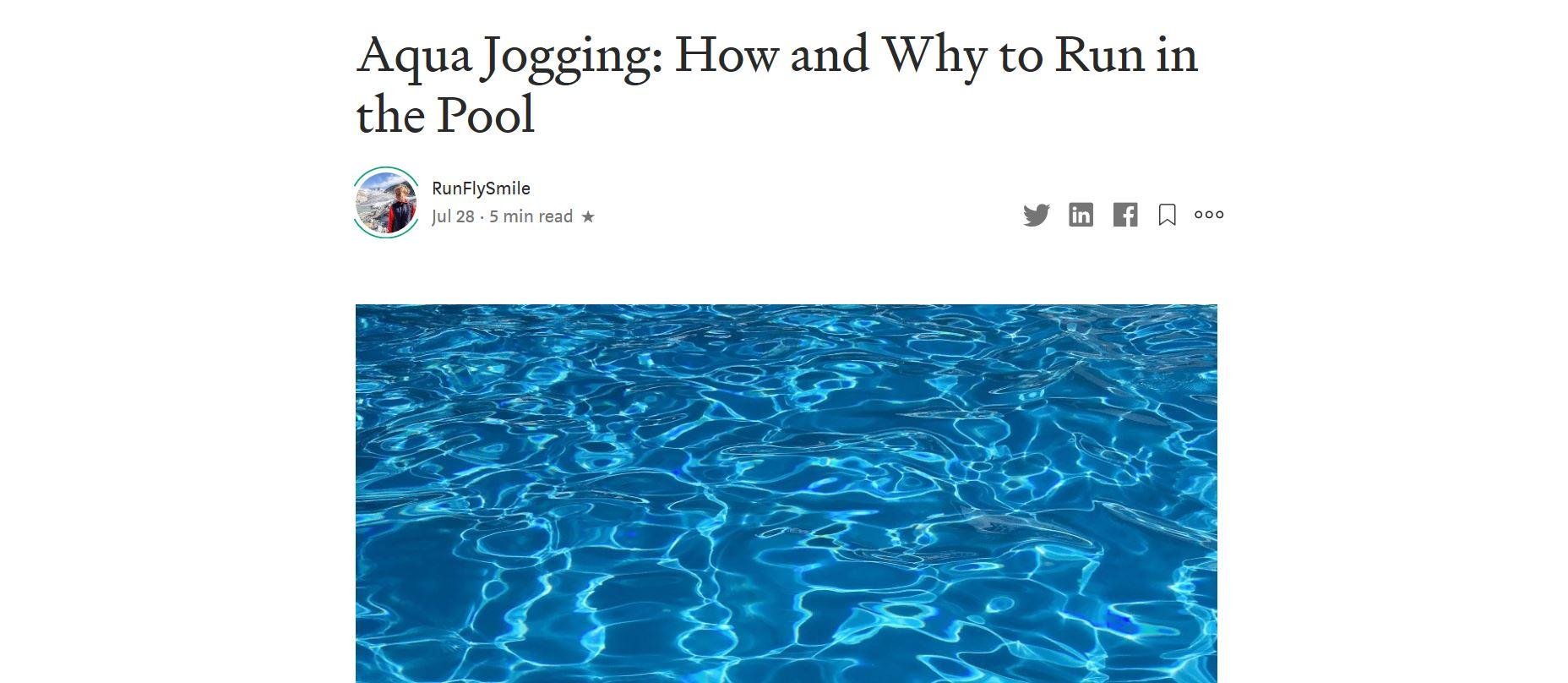 Aqua Jogging Medium